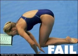 Dive fail