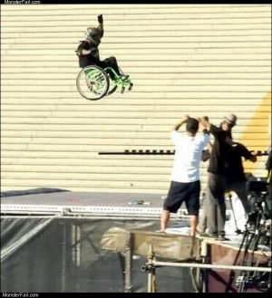 Wheel chair jump