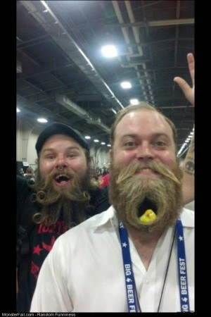 Funny Pics Monster Beard Nest
