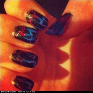Nails colours pretty cool smile be happy sunny black blue purple pink brown cute like