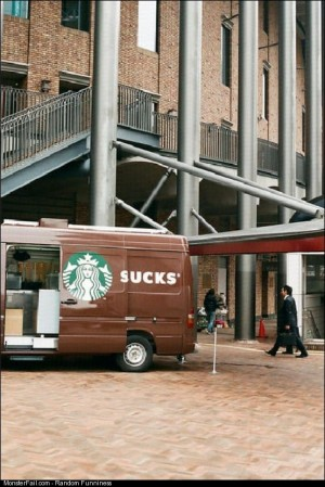 From a fan Starbucks van fail