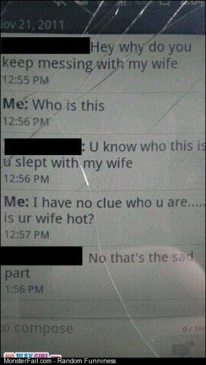 Leave my wife alone text message fail