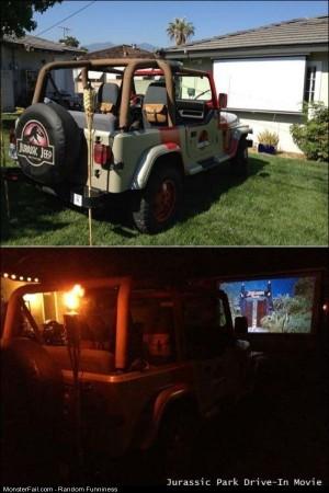 Funny Pics Jurassic Park Drive