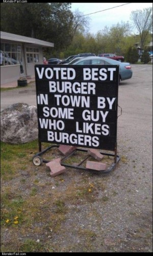 Voted best burgers