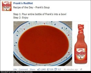 Funny Pics Red Hot Soup