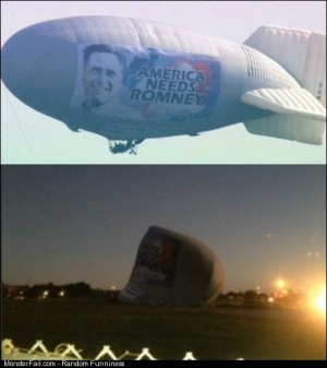 Romney Blimp Crash Lands In Florida