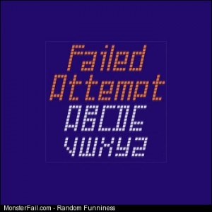 ICLIPART Failed Attempt Font