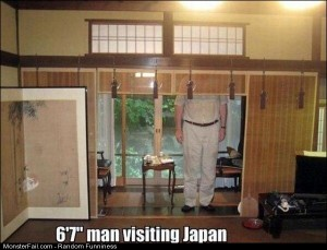 Funny Pics Being Tall In Japan