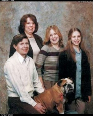 Doggy style family photo