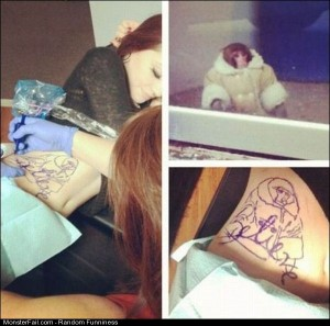 Funny Pics Ikea Monkey Tattoo