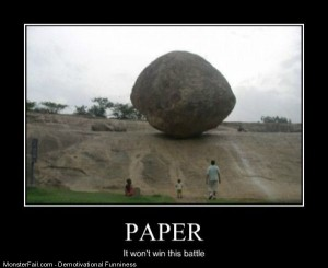 Paper Wont Win