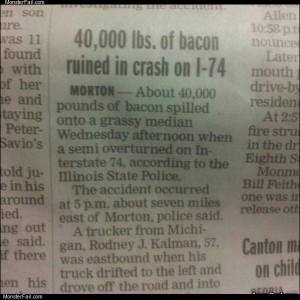 40k lbs of bacon