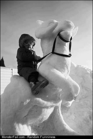 Snow tauntaun Monster parenting win