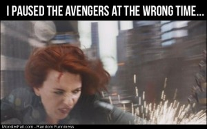 Funny Pics Paused The Avengers