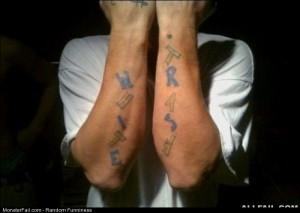 Fail white Trash Tattoo