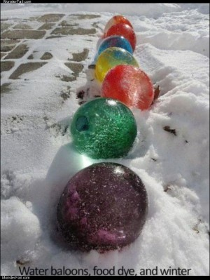 Water balloons in winter