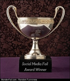 Social Media Monster Fail Award 2012 and the winner