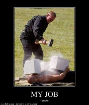 His Job