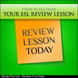 7 Steps to Your ESL Review Lesson