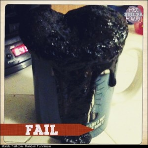 Brownies in a coffee mug in the Big fail for me