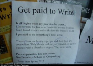 Fail get Paid To Write