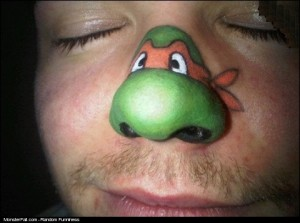 Tattoo Nose TMNT WIN Or FAIL