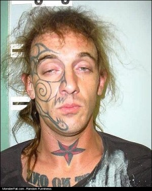 Facial Tattoo FAIL Looking Good