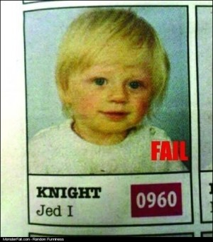 Name FAIL I Guess His Parents Were Star Wars Fans