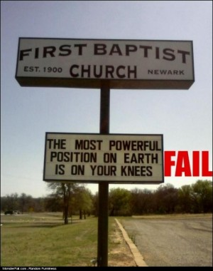 Church Slogan Fail