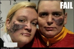 Monster Facial Tattoo Double FAIL