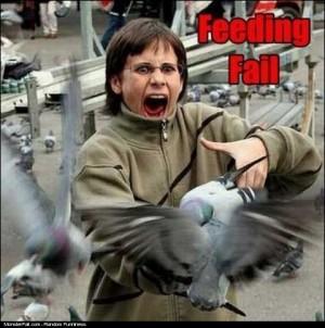 Feeding Pigeons FAIL