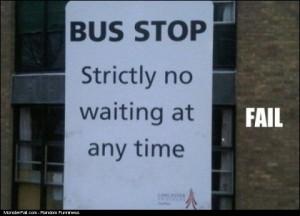 Bus Stop FAIL
