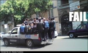 Police FAIL Personal Space FAIL