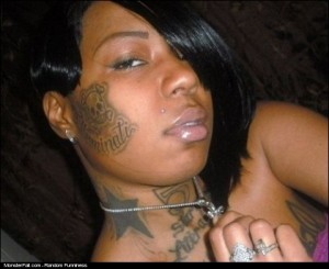 Facial Tattoo FAIL She Wants To Join The