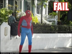 Superhero FAIL Spiderman