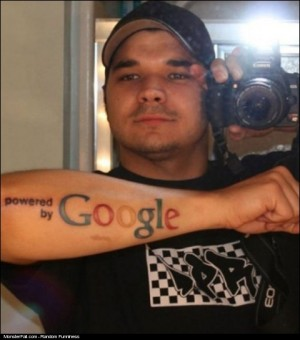 Monster Extreme Google Fan Tattoo FAIL OMG He Looks So