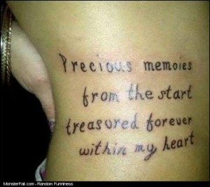 Monster Tattoo FAIL I Hope Your Better Than Your Grammar