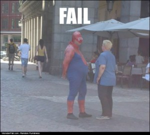 Superhero FAIL Spiderman FAIL