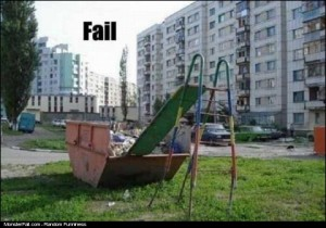 Kids Slide FAIL