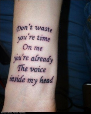 TATTOO FAIL Or Blink 182 Lyrics