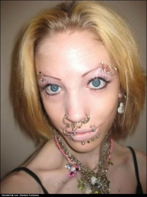 Excuse Me Young Lady You Have Some Face On Your Piercing FAIL