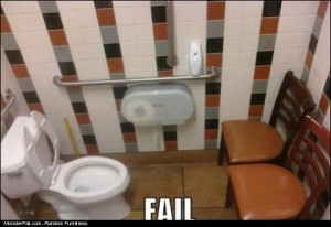Monster Bathroom FAIL