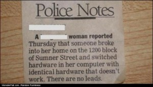 Police Note FAIL