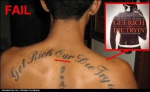 Monster Tattoo FAIL Learn To Spell our Die Trying