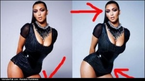 Kim Before  After Photoshop