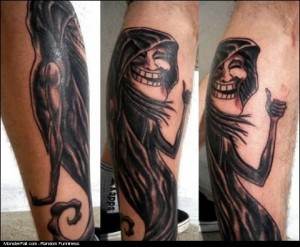 Trollface Tattoo WIN Approved