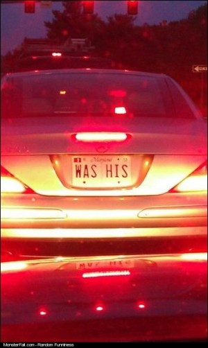 License Plate WIN Just Another Thing He In The Divorce