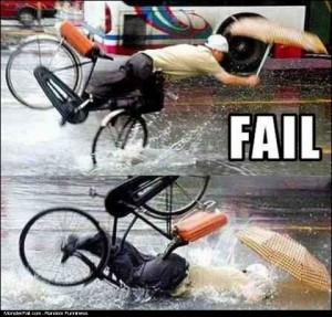 Riding A Bike FAIL