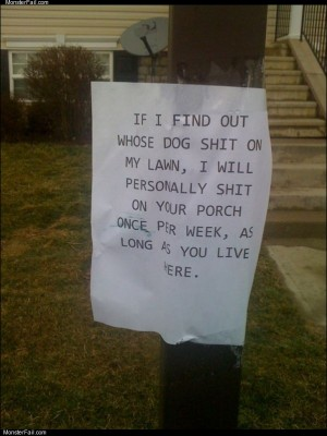 Guy hates dog poop