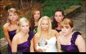 Wedding Photo FAIL Puckering Their Lips